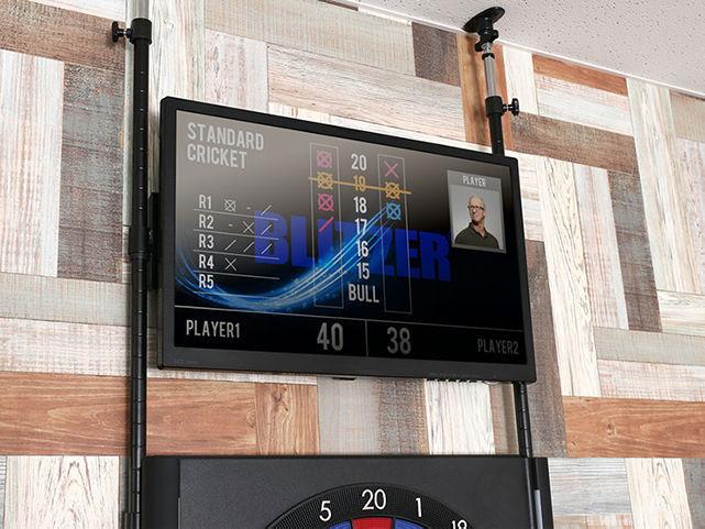 ブリッツァーのモニターダーツスタンドのディスプレイ設置イメージ