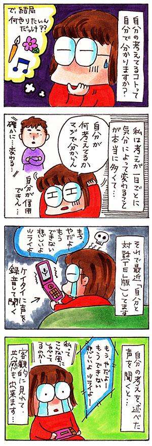 自己との対話携帯編についての日記漫画