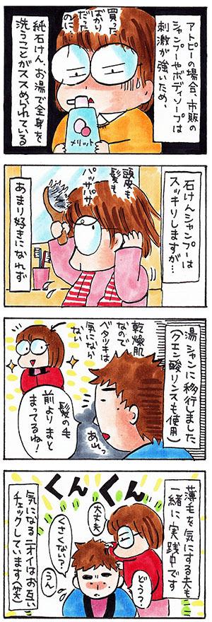 体質改善についての日記漫画
