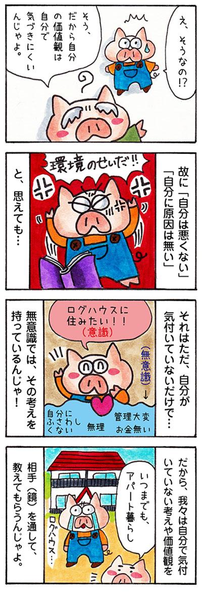 感情と鏡の法則についての漫画