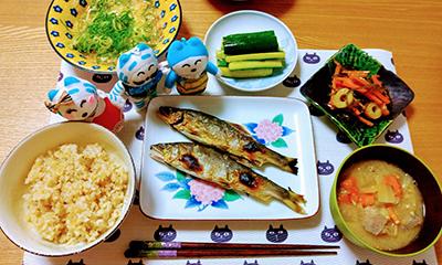 日記漫画 夕食
