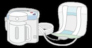 自動排泄処理装置 専用パッドを装着するタイプ