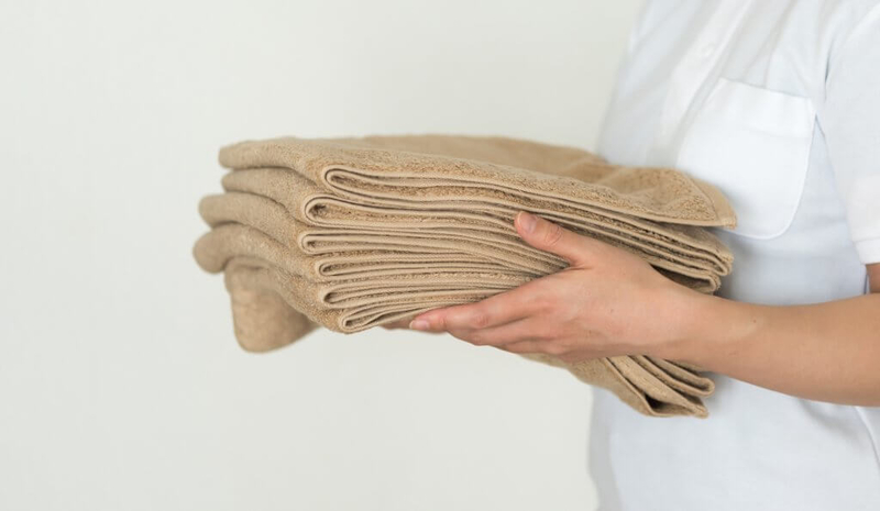 入浴介護に使用するタオル