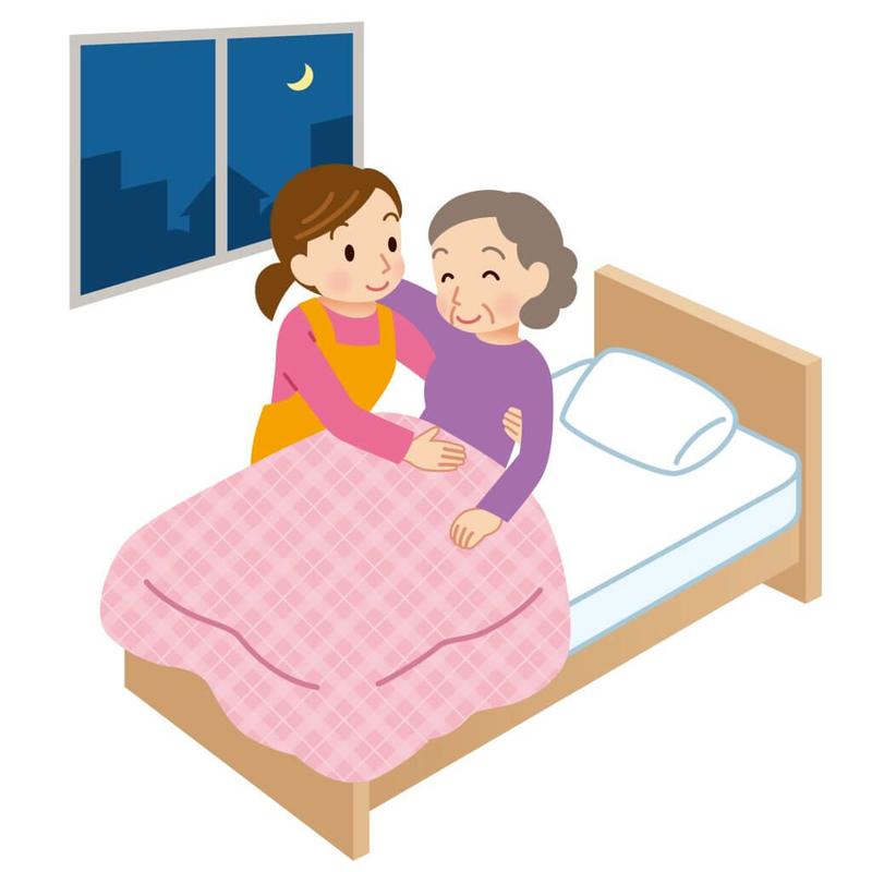 夜間対応型訪問介護のイラスト