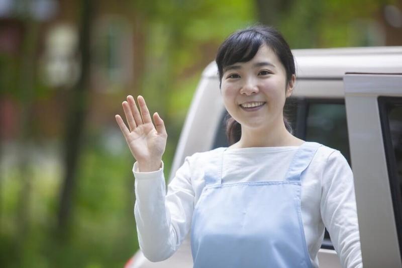 定期巡回に来た介護士