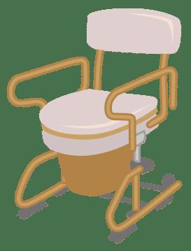 スチールベッドサイド型ポータブルトイレ