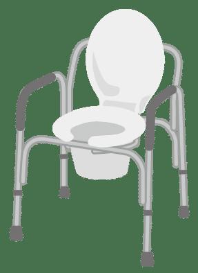 金属製コモード型ポータブルトイレ