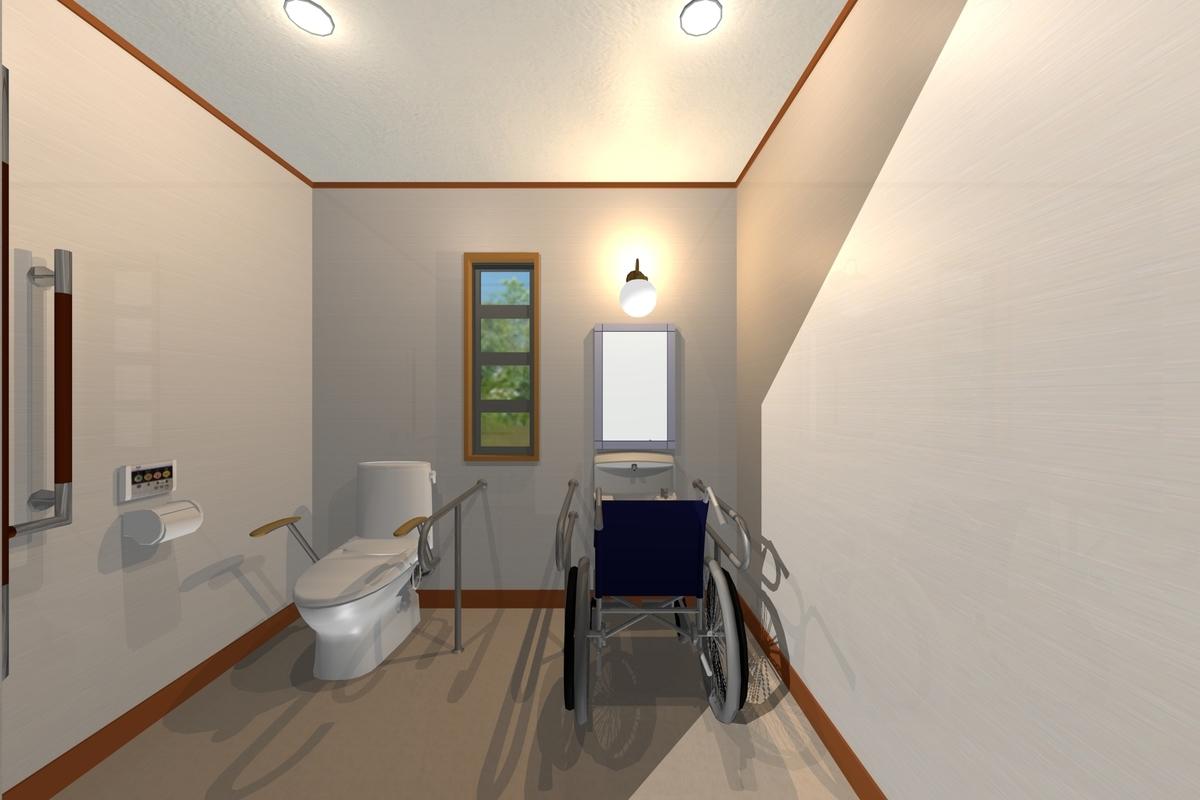 介護に適したトイレのイメージ