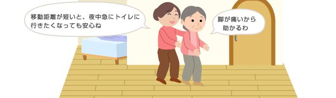 要介護の高齢者をトイレまで移動する方法