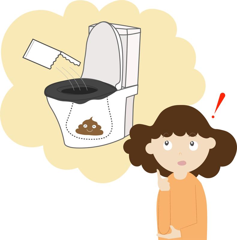 トイレ用の凝固剤を使用する
