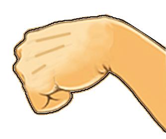 高淑状態になった手のイメージ