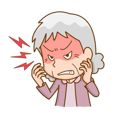怒っている高齢者のイメージ