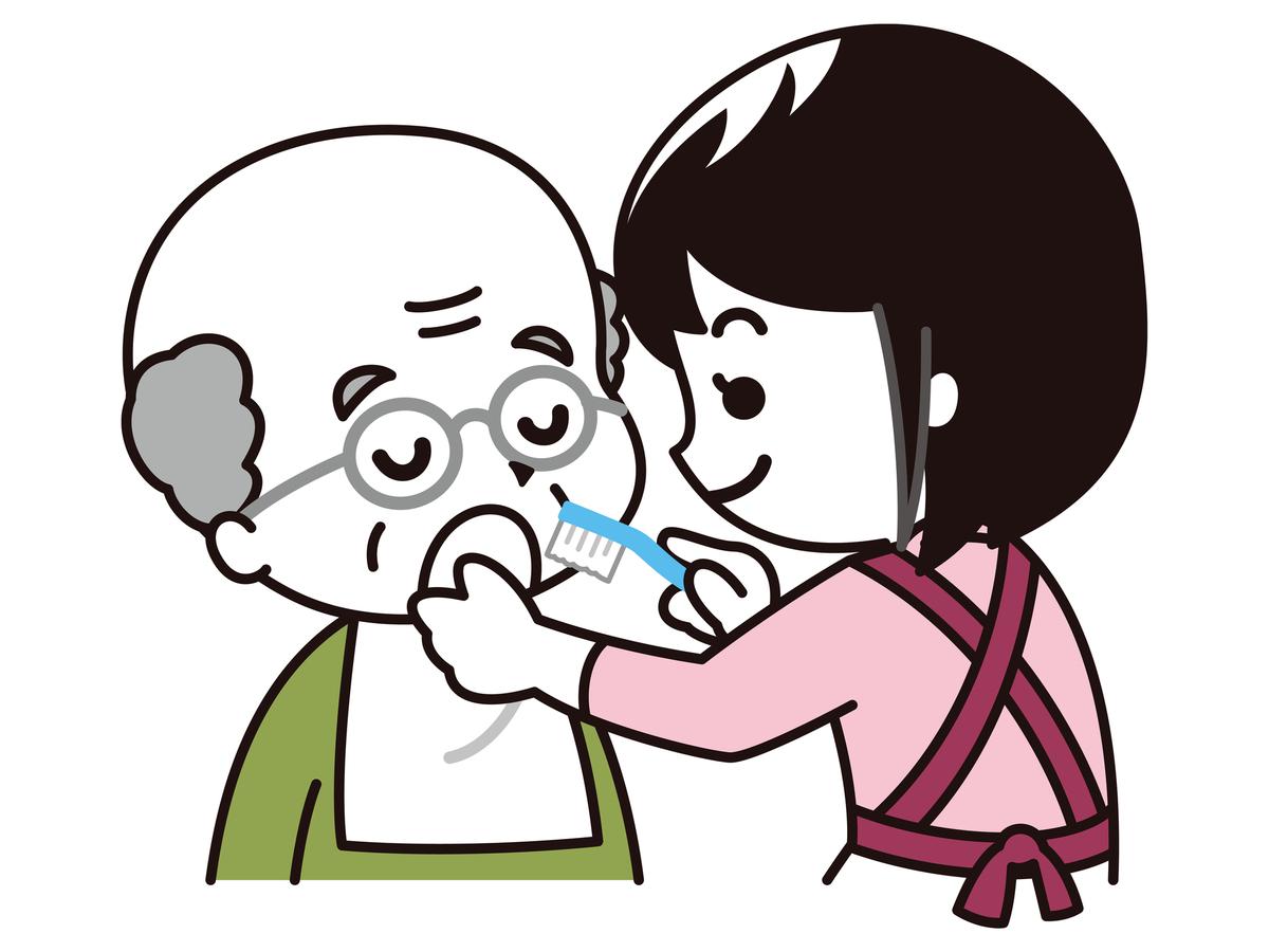 口腔ケアのイラスト