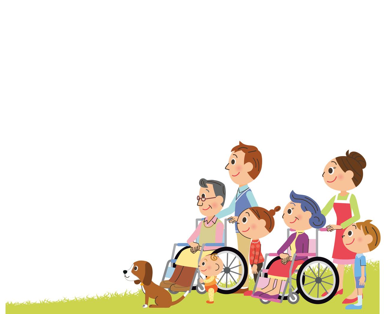 介護家族のイラスト