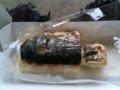 焼き鯖寿司食べてる