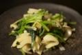 [自炊]竹の子とほうれん草の炒め物