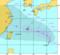 090804台風8号米軍進路図