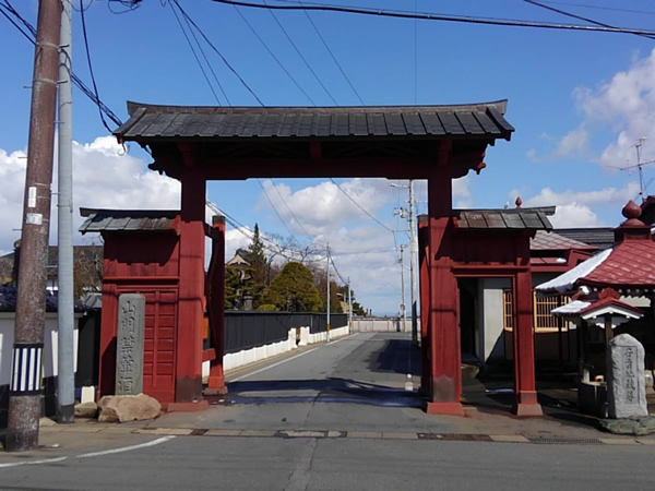 弘前市禅林街 赤門 角度違いの写真