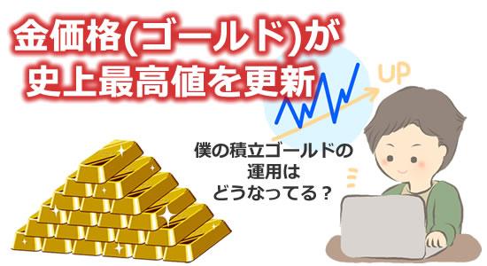 金価格上昇と僕の積立ゴールド タイトル画像