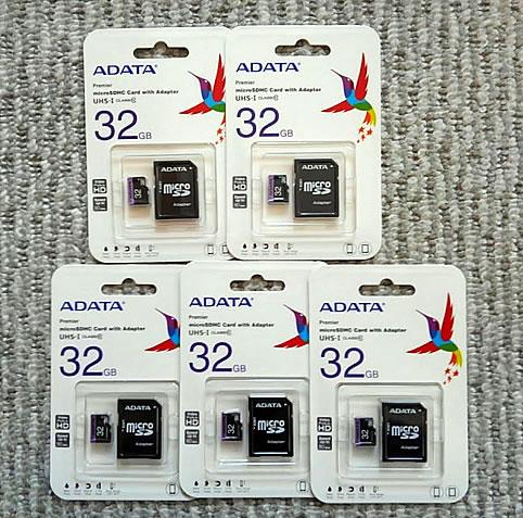 microSDカード 32GB 5枚セットの写真