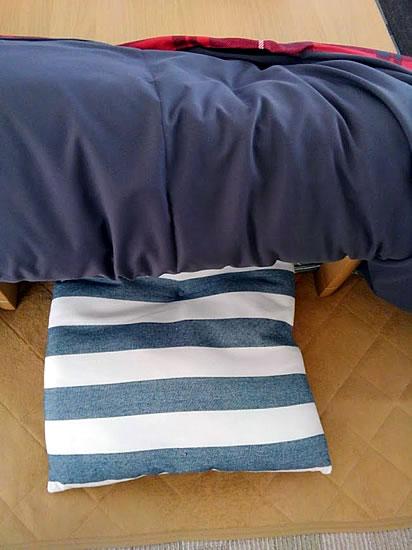 コタツの中に敷く長座布団の写真