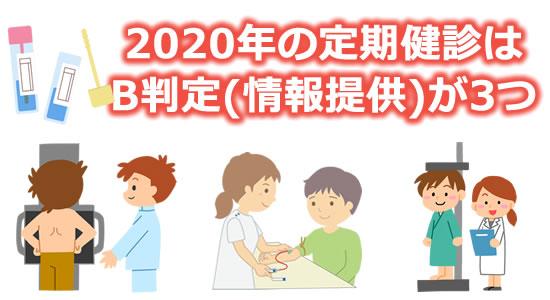 「2020年の定期健診はB判定(情報提供)が3つ」のタイトル画像