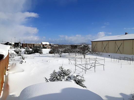 暴風雪一過の晴れ間の写真01
