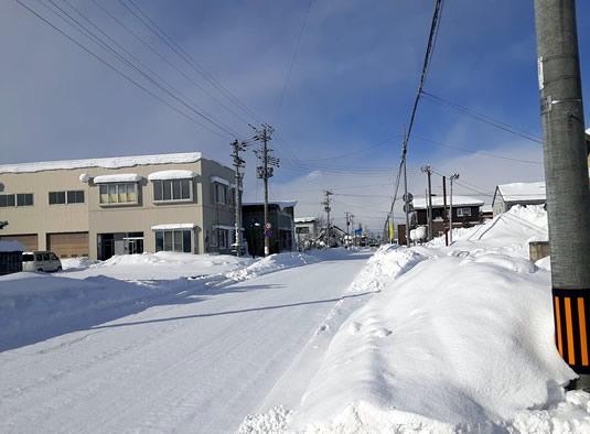 暴風雪一過の晴れ間の写真02