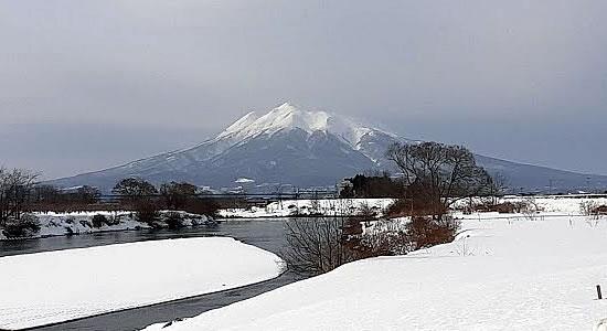 2021年2月1日撮影の岩木山の写真