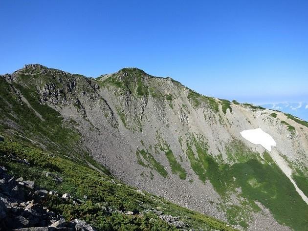 南アルプスの山小屋周辺の景色