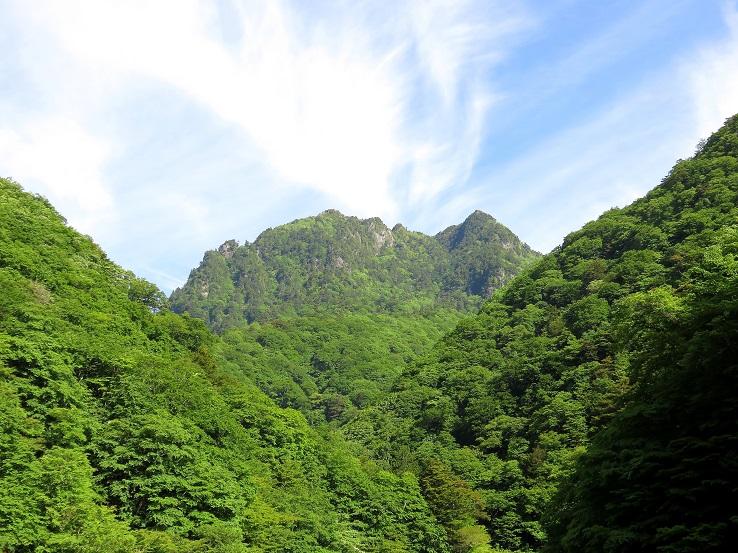 本日登る予定の鶏冠山