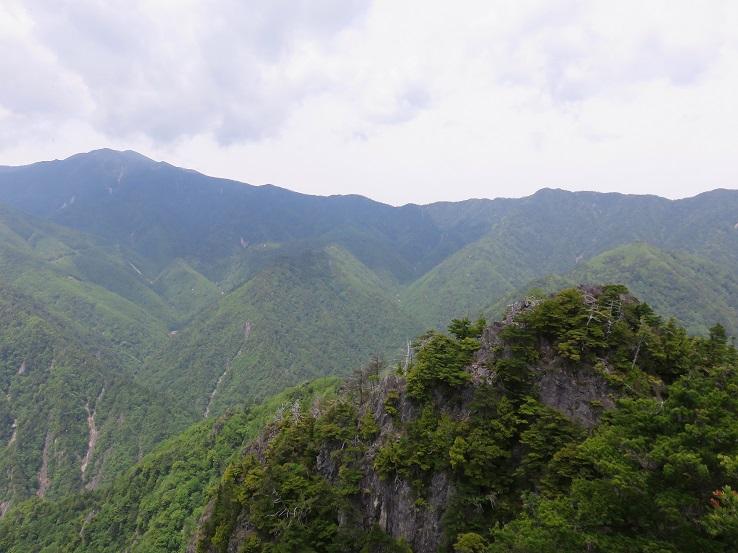 鶏冠山の山頂
