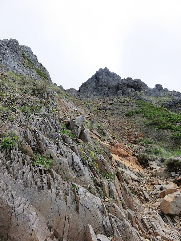 八ヶ岳キレット越えの核心部
