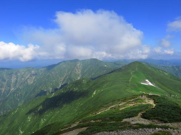 朝日連峰の稜線が一望