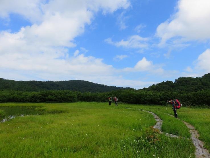 念仏ヶ原避難小屋まで湿原歩き