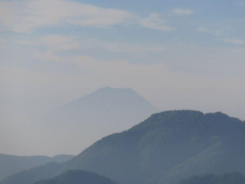 黒戸尾根から富士山