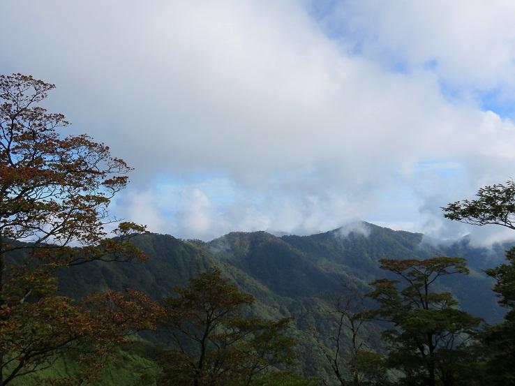 蛭ヶ岳ピストン登山道塔ノ岳からの稜線