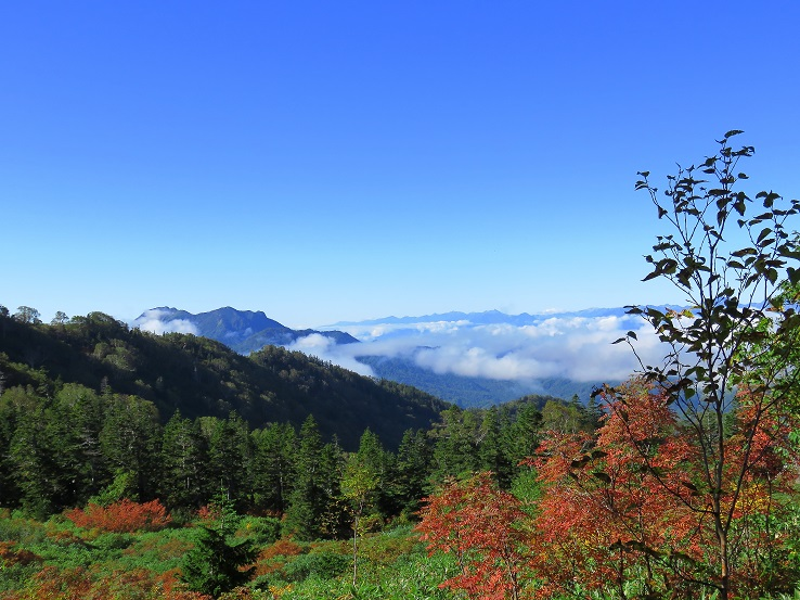 妙高山雄大な景色