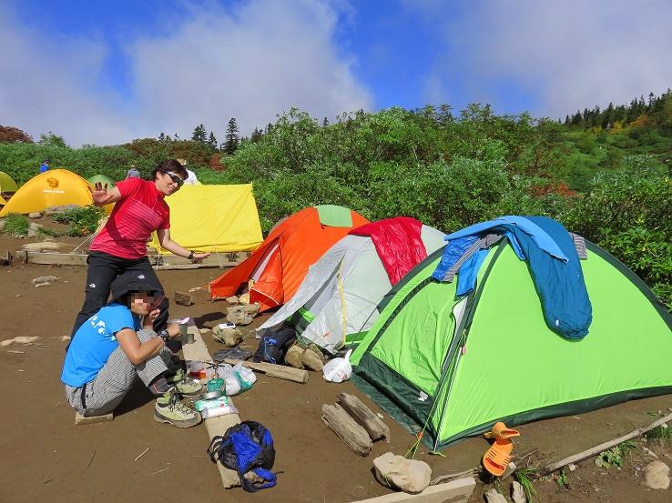高谷池ヒュッテのテント場