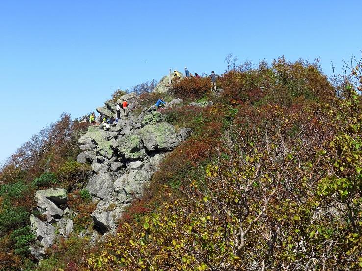 高妻山の岩場