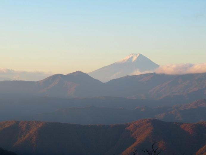 飛龍山富士山の朝焼け