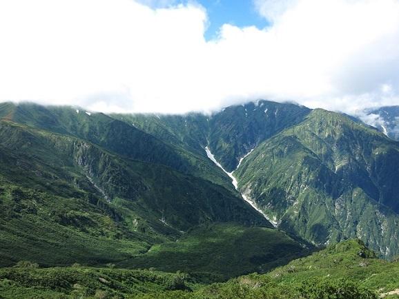 石転ビ雪渓