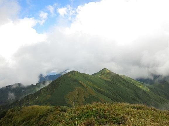 烏帽子岳方面の景色