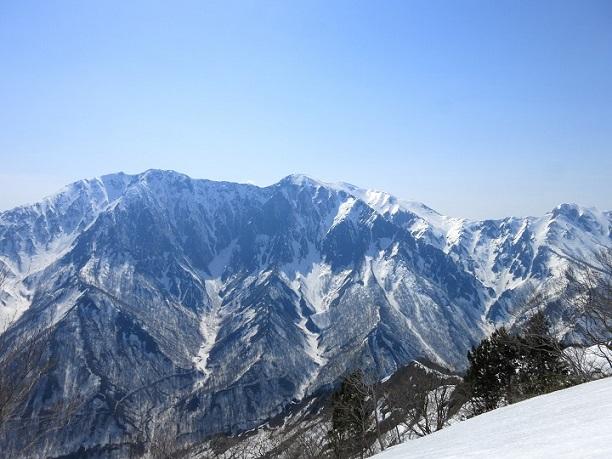 谷川~巻機山国境稜線の景色