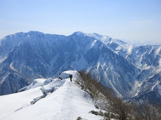 谷川岳の稜線
