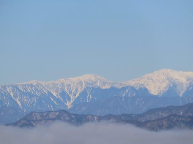 山中湖周辺から白峰三山