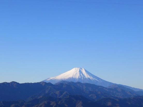 陣馬山から富士山の景色