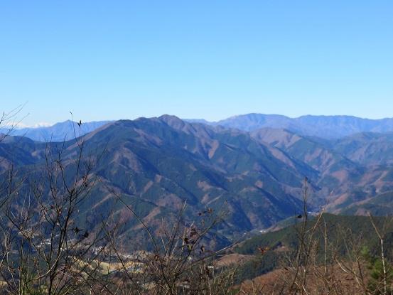 三国山の山頂からの展望