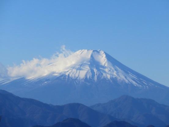 三国山の山頂から富士山展望