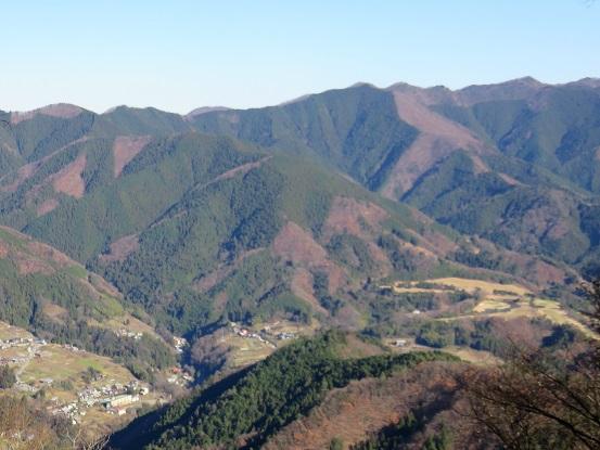 陣馬山・生藤山・三国山方面景色